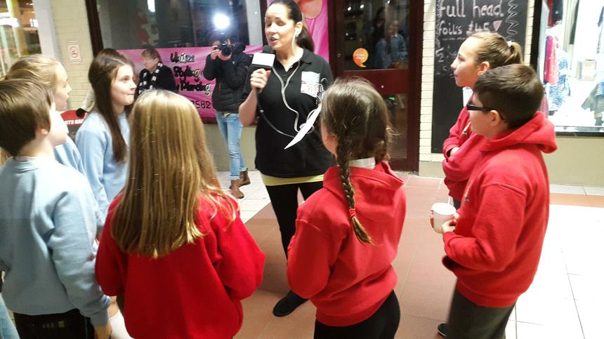 Being interviewed on Scarlets/Carmarthenshire FM