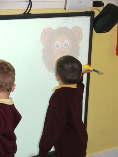 We have been using the interactive whiteboard.
