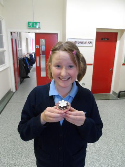Codie with Miss Seaton's special bun!