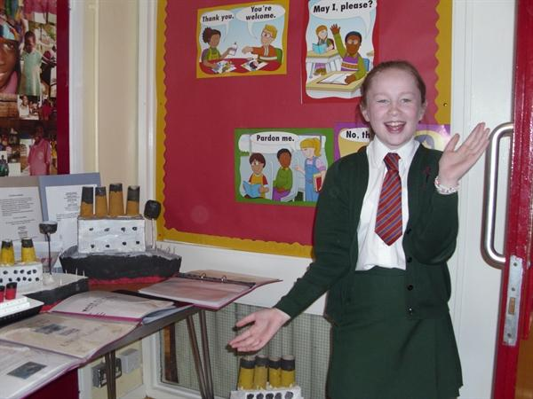 Lucy Is Delighted With The Titanic Display!