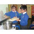 Cooking pilau rice