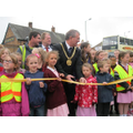 Our children help the Lord Mayor cut the rope on