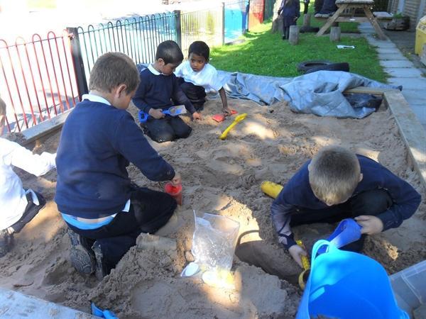 Digging for pirate treasure !
