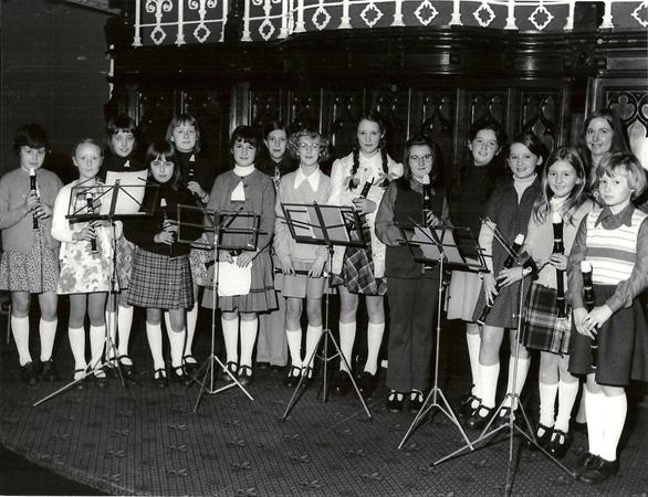 Recorder group, Lincoln Music Festival 1976