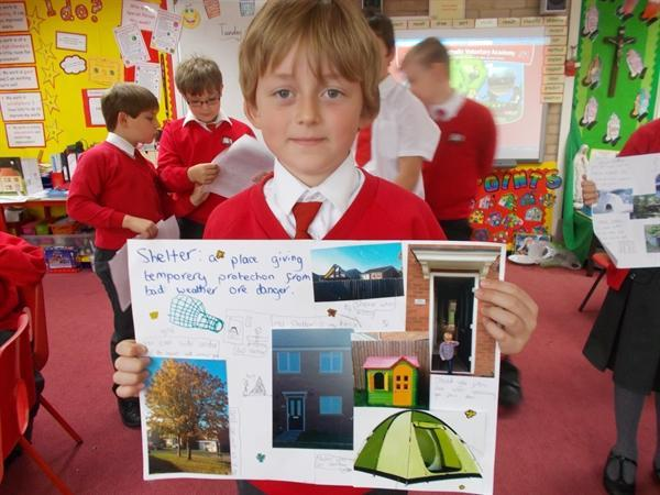 Lots of great 'Shelter' homework done