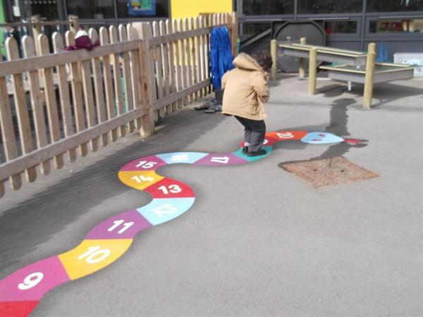Using our number snake to recognise numbers