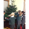 Foundation decorated the school Christmas tree