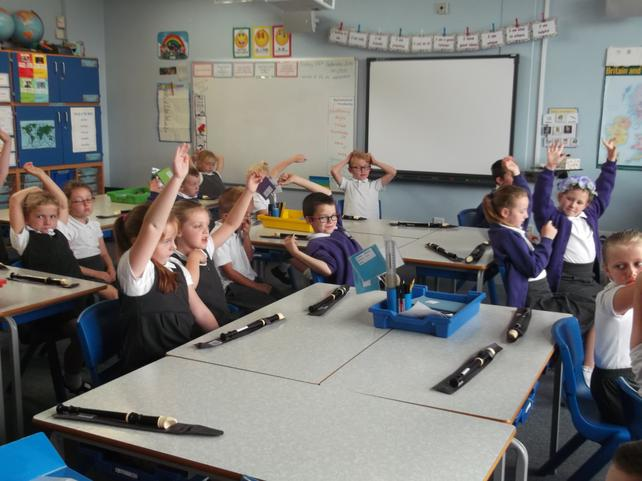 Now that we are in year 3, we play the recorder.