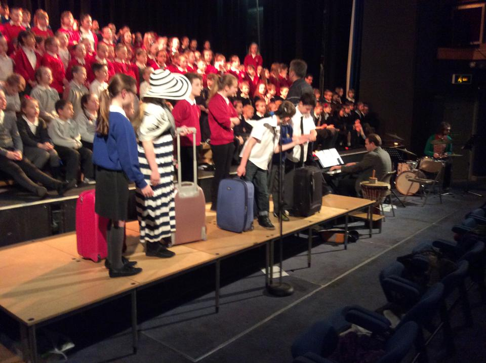 Year 5 Music Festival - passengers at the station