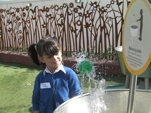 The power of water in the Science Garden.