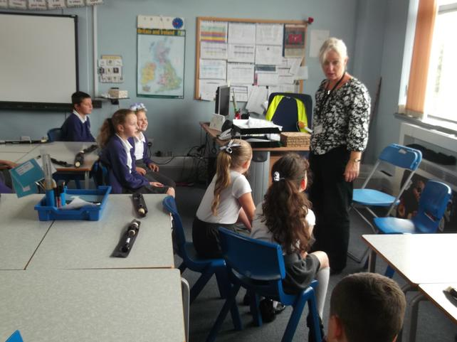Mrs Payet comes in each Friday to teach us how.