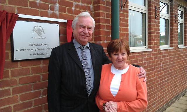 Cllr Ron Whittaker and Mrs Maggie Wyatt
