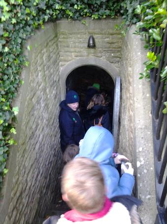 some very steep steps into the undercroft