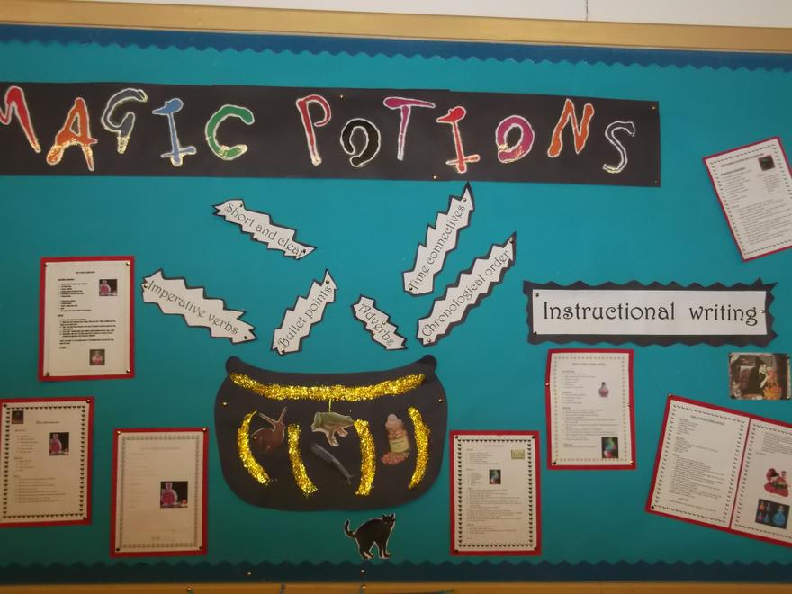 Our instructional writing for magic potions!