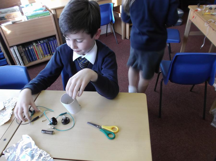 James busy making a circuit