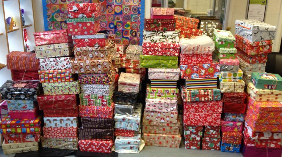 Shoe Box collections for Samaritan's Purse