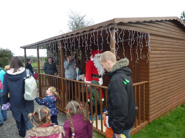 We were excited to see Santas house.