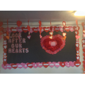 Hearts from all the children in our school