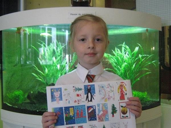 Year 3A's winner - Design a Christmas Stamp