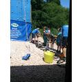 The climbing wall - Barton Hall 2014