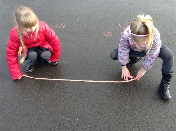 We love estimating and measuring outside!