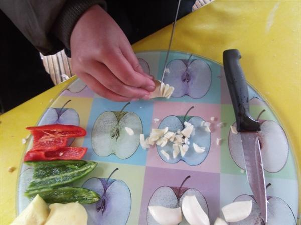Garlic and chilli chrispy kale