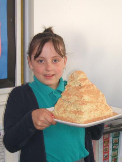 a pyramid cake...delicious!