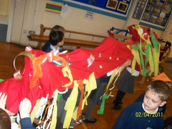 This is the Chinese Dragon we made
