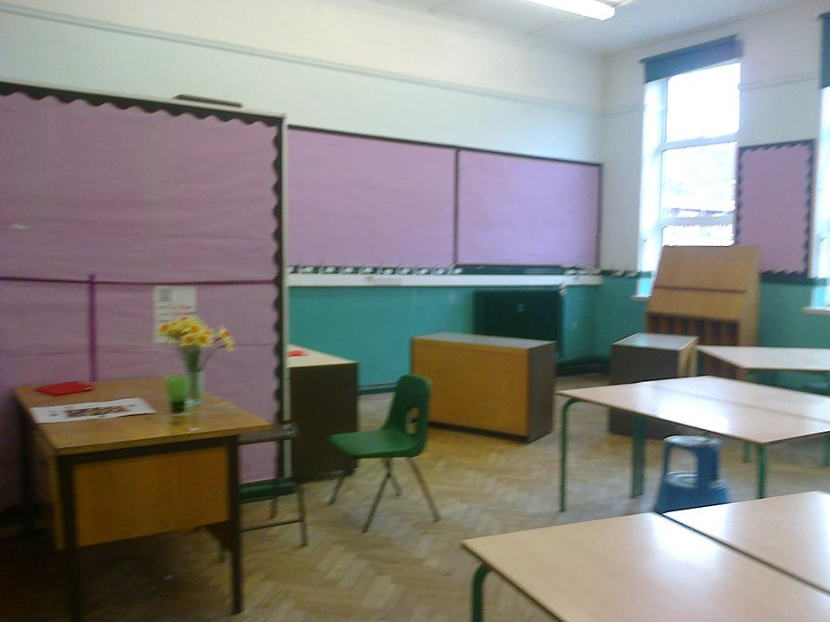 The back of the classroom
