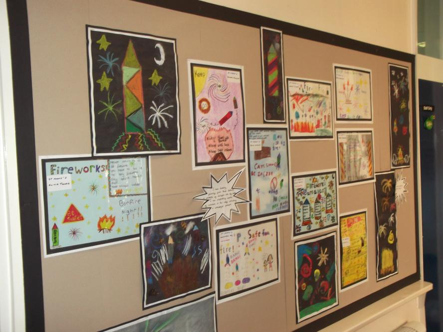 Pupils Firework Safety posters