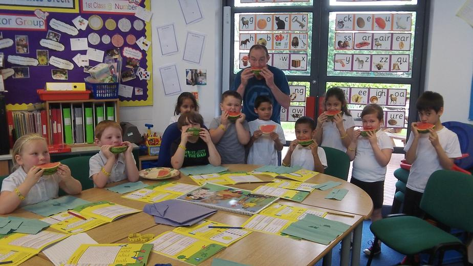 Tasting water melon - did you like it?