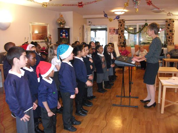 Red hot music group singing in the community