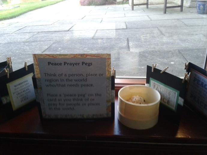 We invited  parishioners to pray for peace