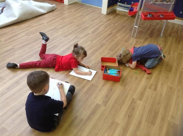 Recording what we know about space in our jotters!