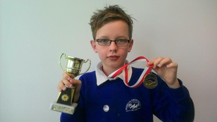 Dylan - 200m freestyle Age 10. WINNER!