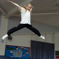 At our trampolining club. How high can you go?