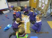 During this Autumn Term we have been very busy making new friends, exploring our new envrionment and trying hard to be more independent!  In the pictures below you can see we have been learning all about our changing world.  We went on an Autumn walk to find evidence of the changing seasons and we made our own seasonal trees!  We especially liked making our winter tree with all the sparkles and glitter! 5