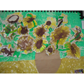 We re-created Vincent Van Gogh painting Sunflowers
