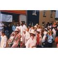 Children dressed in Victorian style, 1990