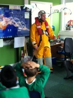 Andy taught us who the RNLI are and what they do.