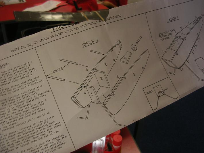 We looked at the plans for the model.