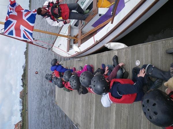 Sailing and Canoeing at Scaling Dam