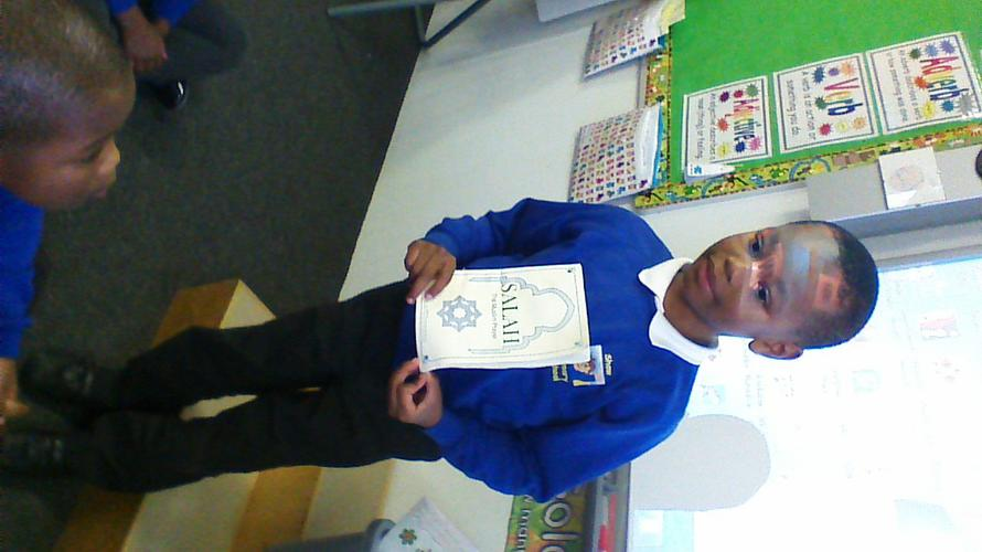 Nabeel shared his prayer book.