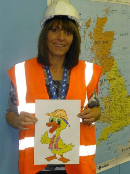 Mrs Hewitt and the Health and Safety duck!!