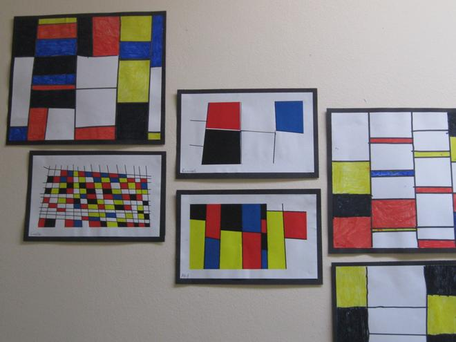 Inspired by the works of Piet Mondrian.