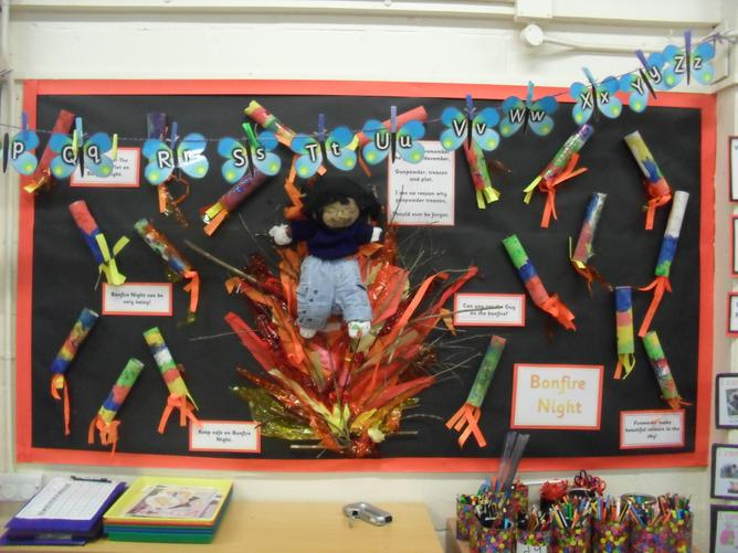We have learned all about The Gunpowder Plot and celebrated Bonfire Night by making some colourful rockets – we are very good at making the loud noises!