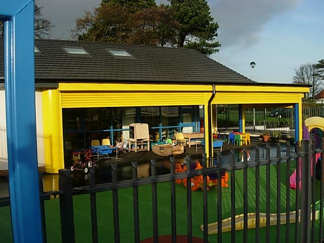 Nursery Play area with pull down shutters