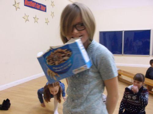 cereal box game was very competitive!