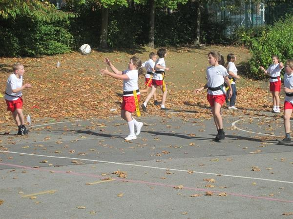 More action from Tag Rugby!