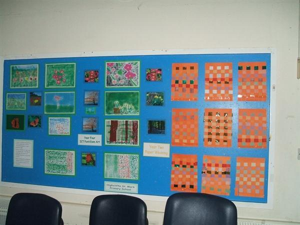 Year 4 Pontillism Art and Year 2 Paper Weaving